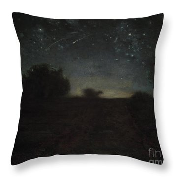 Starry Night Throw Pillow by Jean-Francois Millet