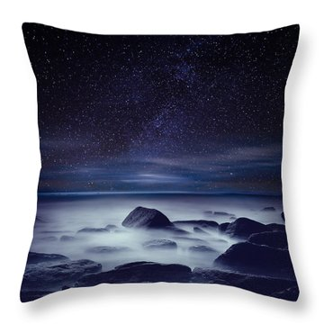 Starry Night Throw Pillow by Jorge Maia