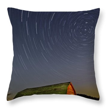 Starry Night Throw Pillow by Susan Candelario