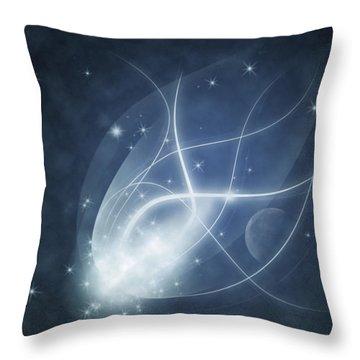Starry Night Throw Pillow by Susan Leggett