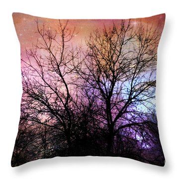 Throw Pillow featuring the photograph Starry Night by Sylvia Cook