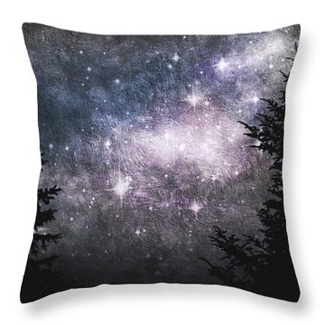 Starry Starry Night Throw Pillow by Cynthia Lassiter