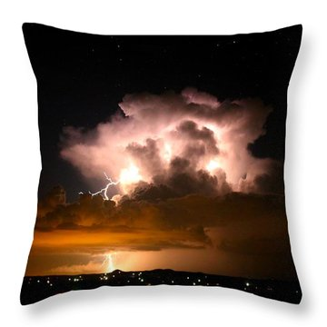 Starry Thundercloud Throw Pillow