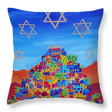 Stars Above Jerusalem Throw Pillow