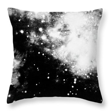 Stars And Cloud-like Forms In A Night Sky Throw Pillow