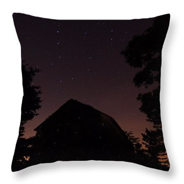 Stars And Lightning Bugs On The Farm Throw Pillow
