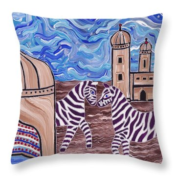 Stars And Stripes Throw Pillow by Barbara St Jean