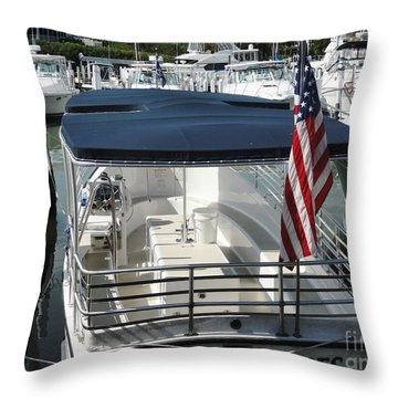 Throw Pillow featuring the photograph Stars And Stripes by Janette Boyd