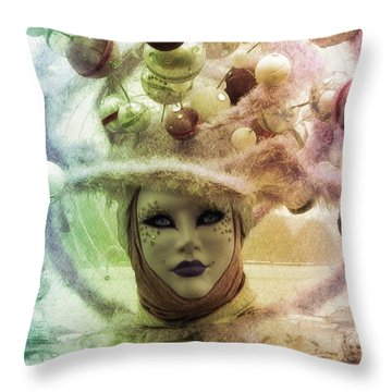 Stars Around Me Throw Pillow by Barbara Orenya