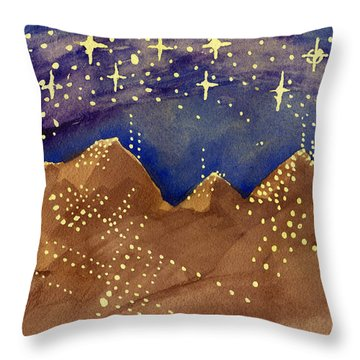Stars Of Heaven And Earth Throw Pillow