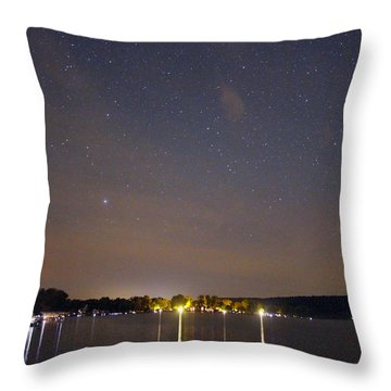 Stars Over Conesus Throw Pillow by Richard Engelbrecht
