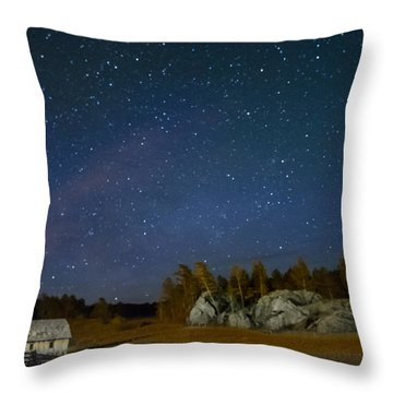 Stars Over Outlaw Ranch Throw Pillow