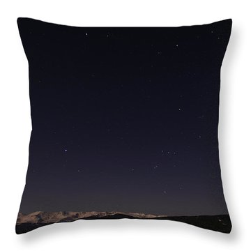Stars Over Sawatch Throw Pillow