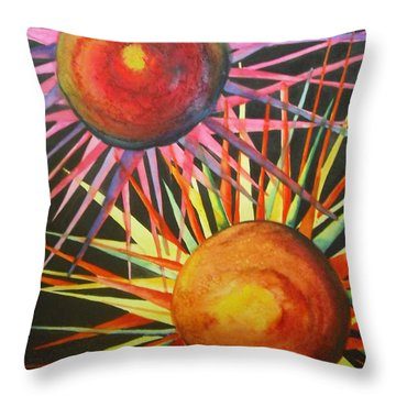 Stars With Colors Throw Pillow by Chrisann Ellis
