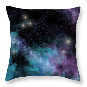 Starscape Nebula Throw Pillow by Antony McAulay