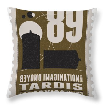 Starschips 89-bonus-poststamp - Dr Who - Tardis Throw Pillow by Chungkong Art