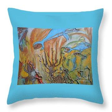 Starsign Cancer Throw Pillow by Ann Fellows