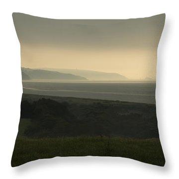 Start Bay Devon At Dawn Throw Pillow