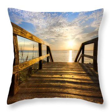 Start Of The Day Throw Pillow by Debra and Dave Vanderlaan