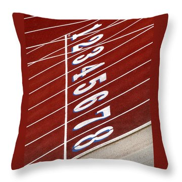 Track Starting Line Throw Pillow