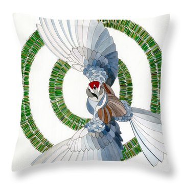 Throw Pillow featuring the drawing Startled by Dianne Levy