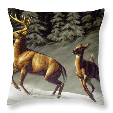 Startled - Variation Throw Pillow