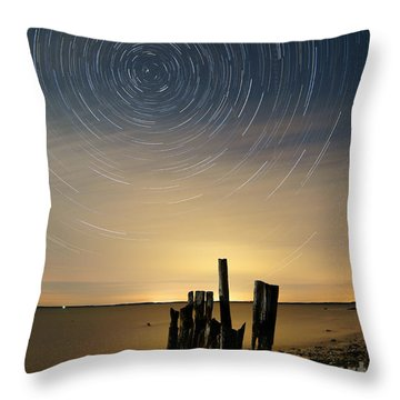 Startrails 2 Throw Pillow by Benjamin Reed