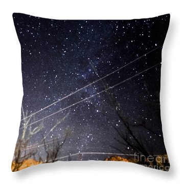 Stars Drunk On Lightpaint Throw Pillow
