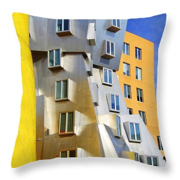 Throw Pillow featuring the photograph Stata Building At M I T by Caroline Stella