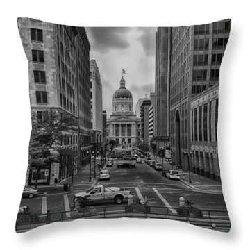 Throw Pillow featuring the photograph State Capitol Building by Howard Salmon