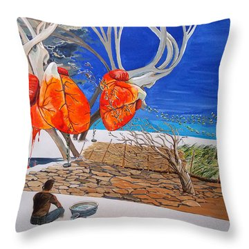 State Of Emotion The Pulse Let It Work... Throw Pillow