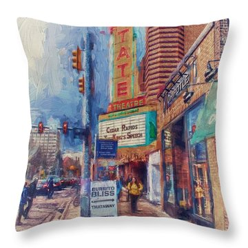State Street Impasto Throw Pillow