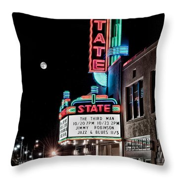 Throw Pillow featuring the photograph State Theater by Jim Thompson