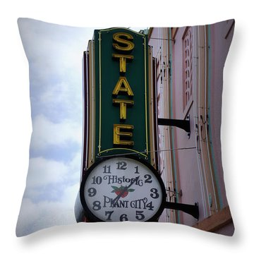 State Theatre Sign Throw Pillow by Laurie Perry