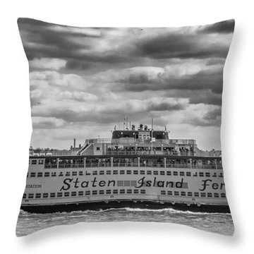 Staten Island Ferry 10484 Throw Pillow