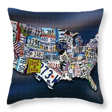 States Throw Pillow by Robert Smith
