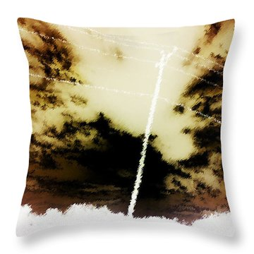 Static Electricity Throw Pillow