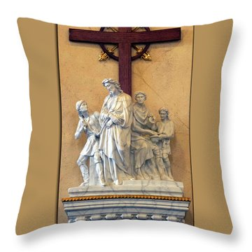 Station Of The Cross 01 Throw Pillow by Thomas Woolworth
