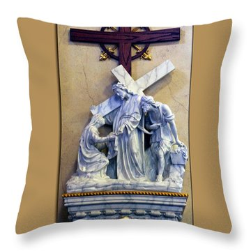 Station Of The Cross 06 Throw Pillow by Thomas Woolworth