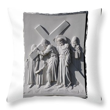 Station V Throw Pillow