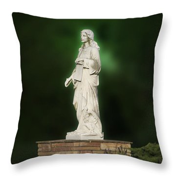 Statue 07 Throw Pillow by Thomas Woolworth
