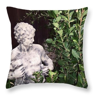 Statue 1 Throw Pillow by Pamela Cooper