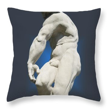 Statue 10 Throw Pillow by Thomas Woolworth