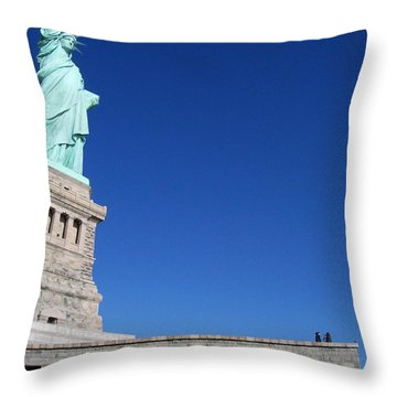 Statue And Sky Throw Pillow by Katie Beougher