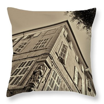 Statue In The Corner Throw Pillow