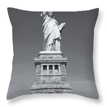 Statue Of Liberty IIi Throw Pillow by Clarence Holmes