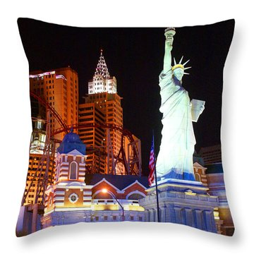 Statue Of Liberty Replica Throw Pillow