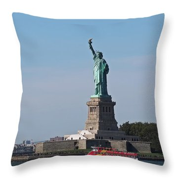Throw Pillow featuring the photograph Statue Of Liberty by Rona Black