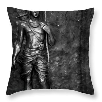 Statue Of Lord Sri Ram Throw Pillow