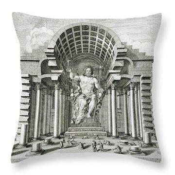 Statue Of Olympian Zeus Throw Pillow by Johann Bernhard Fischer von Erlach